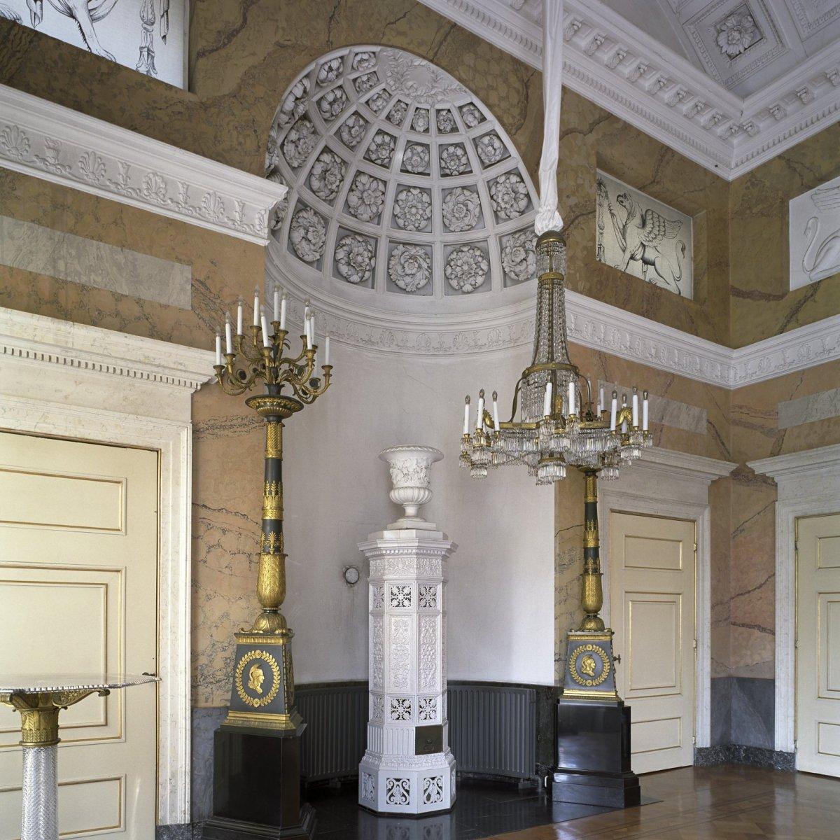 File interieur kacheloven in de stuczaal gelegen aan de for Corps interieur
