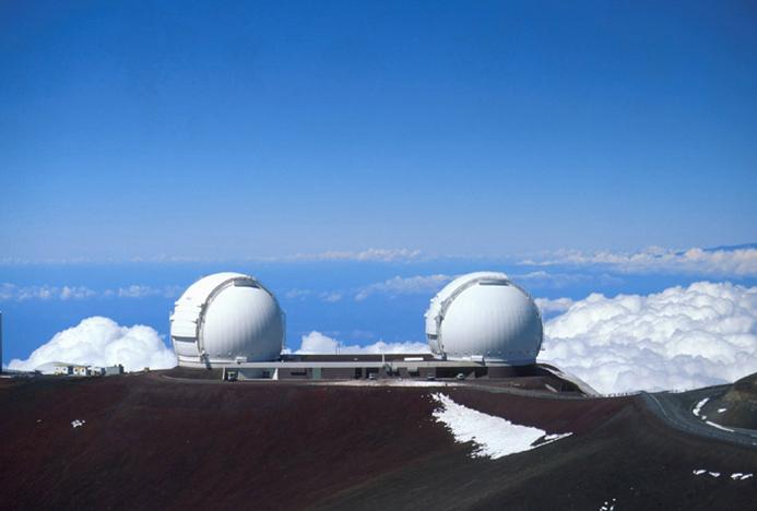 Resultado de imagen de Telescopios situados en Arizona y HawAI