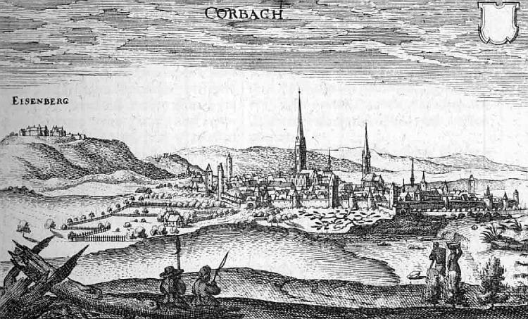 Korbach – Auszug aus der Topographia Hassiae von Matthäus Merian 1655