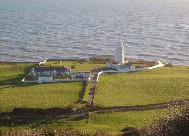 Lighthouse and dwellings, St Catherine's Point - geograph.org.uk - 1414491