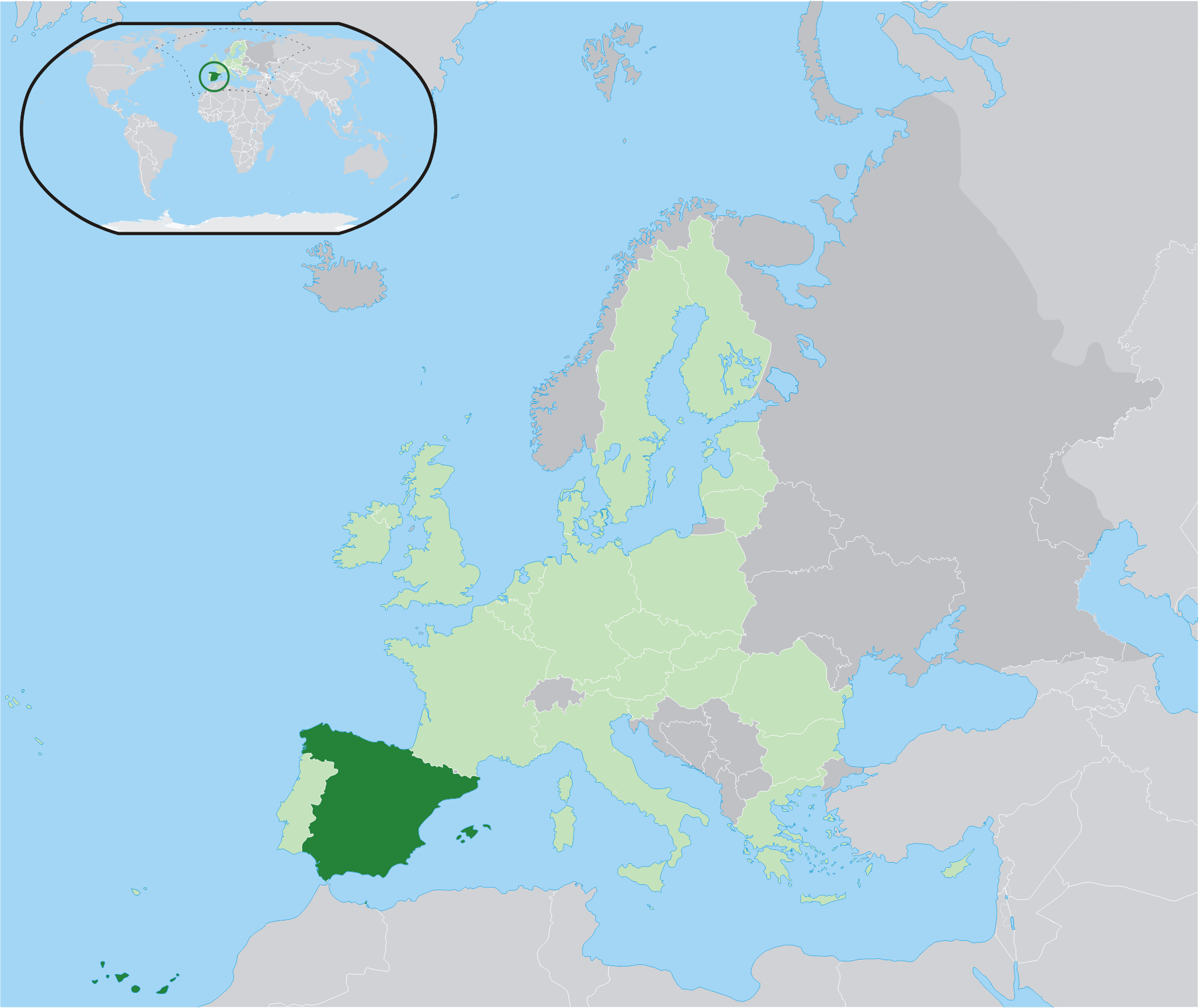 Map Of Spain And Europe.File Location Spain Eu Europe 2 Png Wikipedia