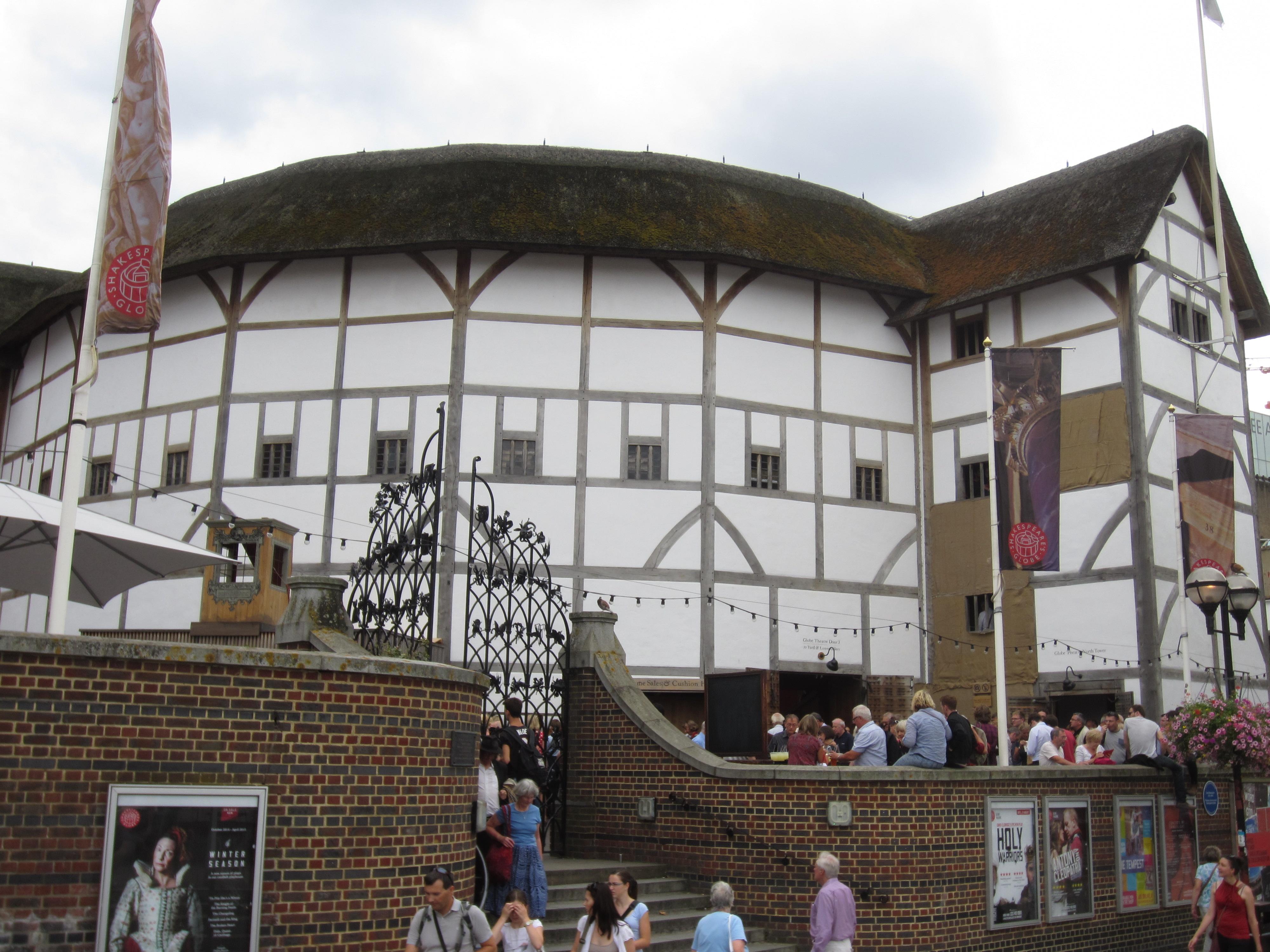 Reconstrucción moderna del teatro The Globe (el original fue destruido por un incendio en 1613)