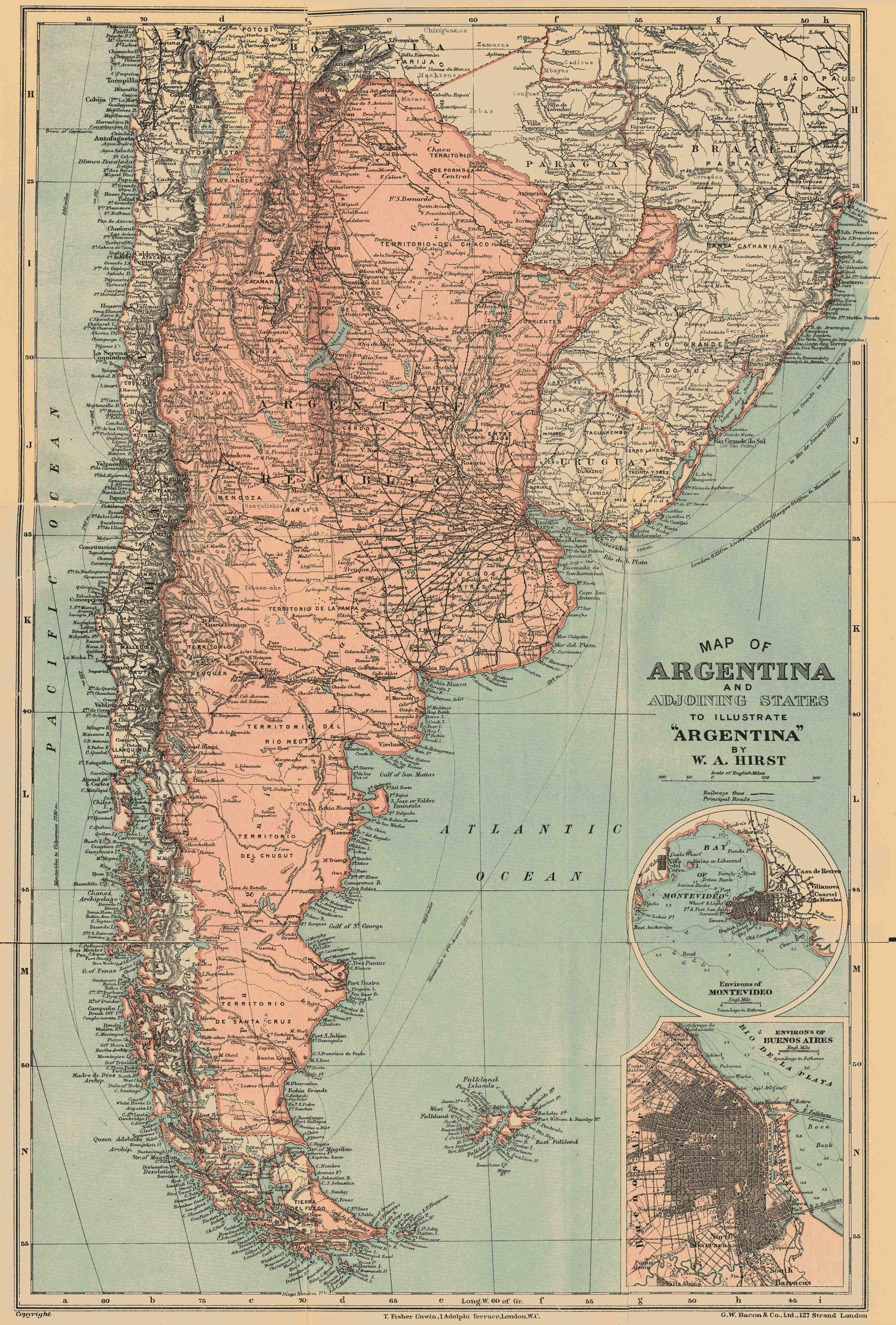 FileMAP OF ARGENTINA AND ADJOINING STATESUKsPGjpg - Vintage maps uk