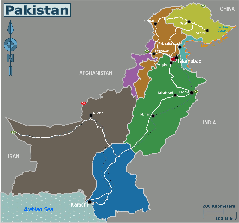 FileMap Of Pakistanpng Wikimedia Commons - Maps of pakistan