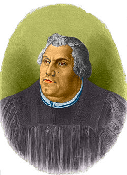 Martin Luther coloured drawing
