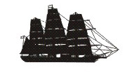 Navio Veleiro Cisne Branco - Silhoutte ship (S...
