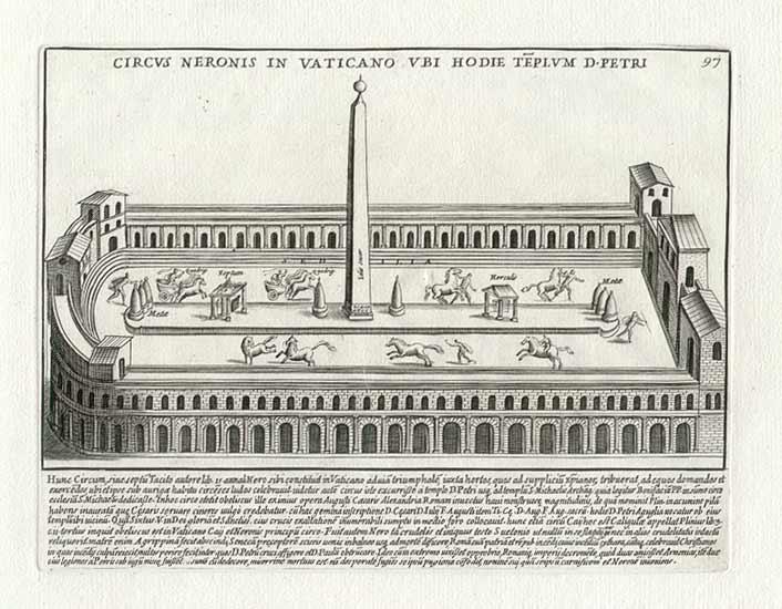 Pietro Santi Bartoli, engraving ''Nero Circus'', 1699.
