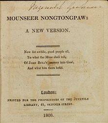 <i>Mounseer Nongtongpaw</i> poem