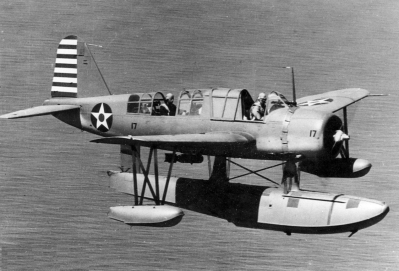 OS2U-2 Kingfisher in flight 1942.jpg