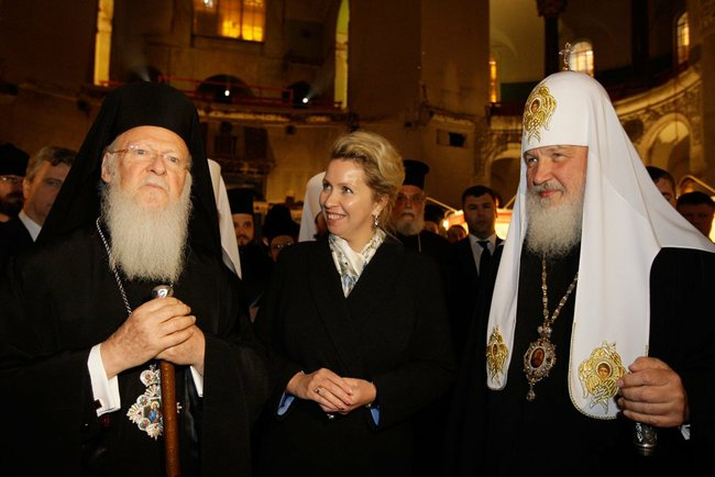 File:Patriarch kirill and patriarch bartholomew in kronstadt1.jpeg