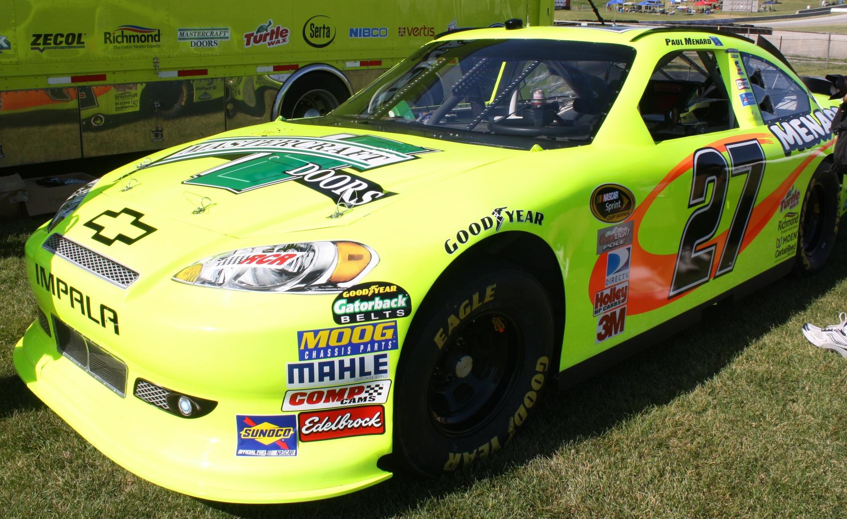 File:Paul Menard NASCAR Cup car shown at Road America 2012.jpg ...