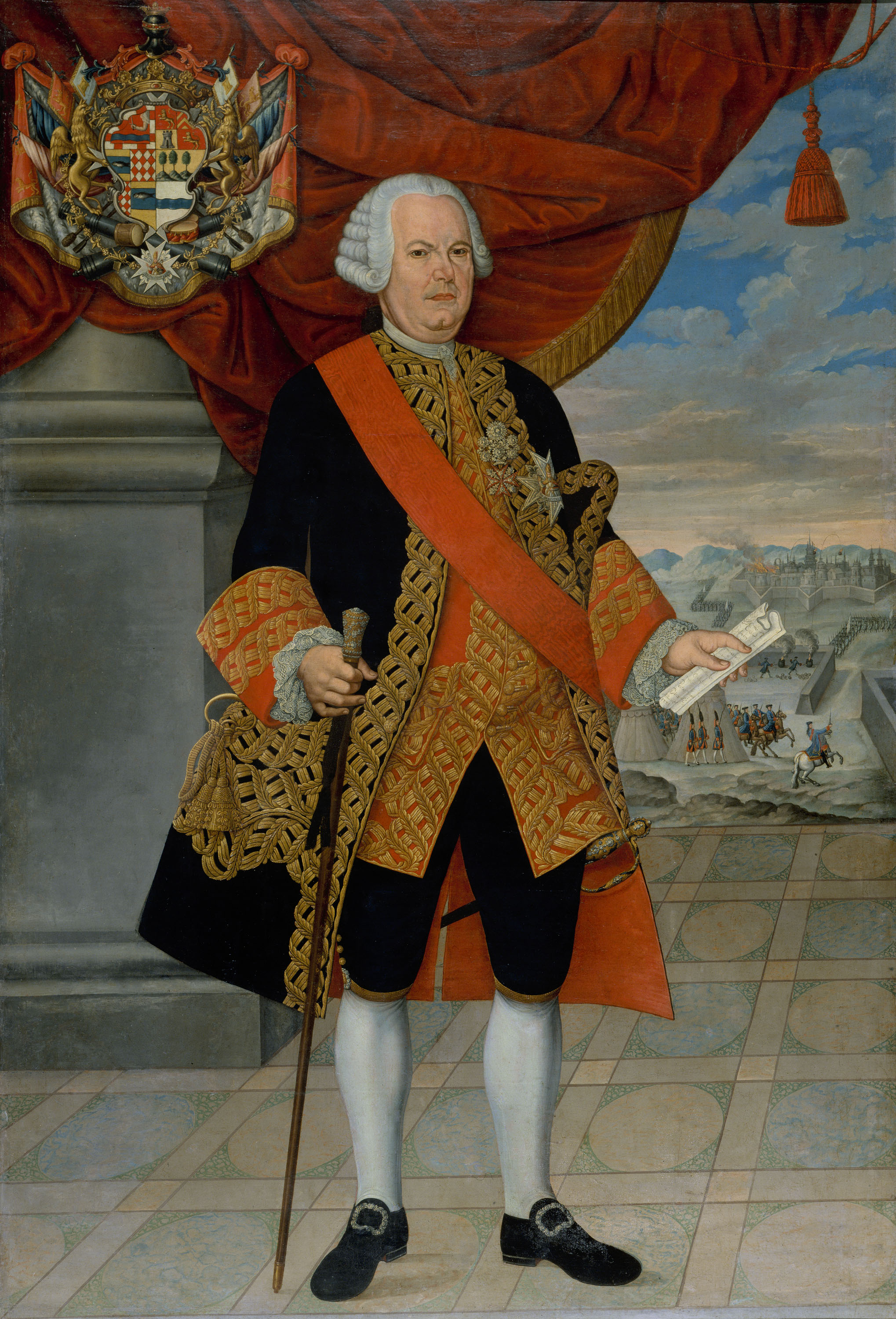 Portrait of Amat as [[List of Viceroys of Peru Viceroy of Peru]], 1773