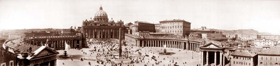 Saint Peter's Square and Basilica, 1909