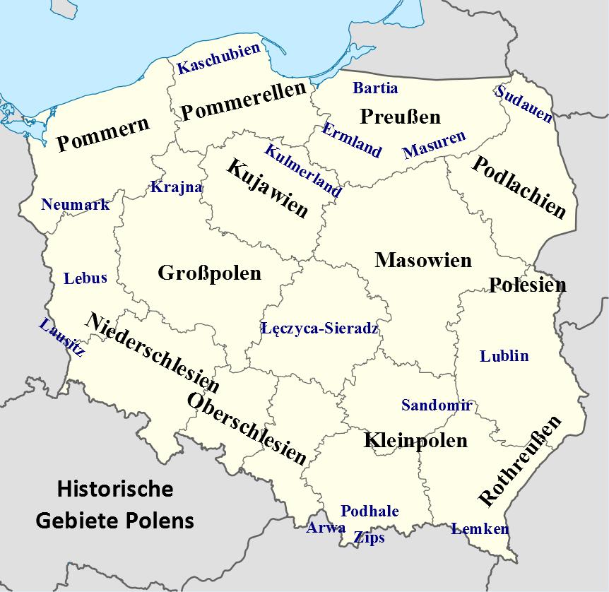 Polen Gebiete