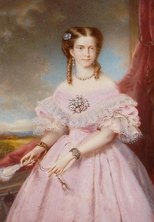 D. Maria Pia, em 1862, ano do seu casamento com D. Luís I
