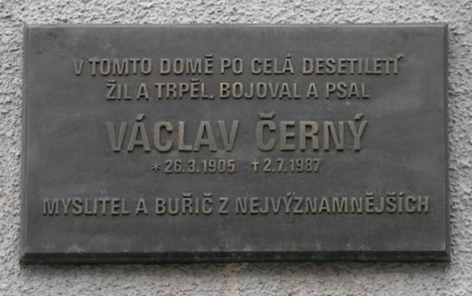 Plaque in Zelená Street, Prague, [[Dejvice