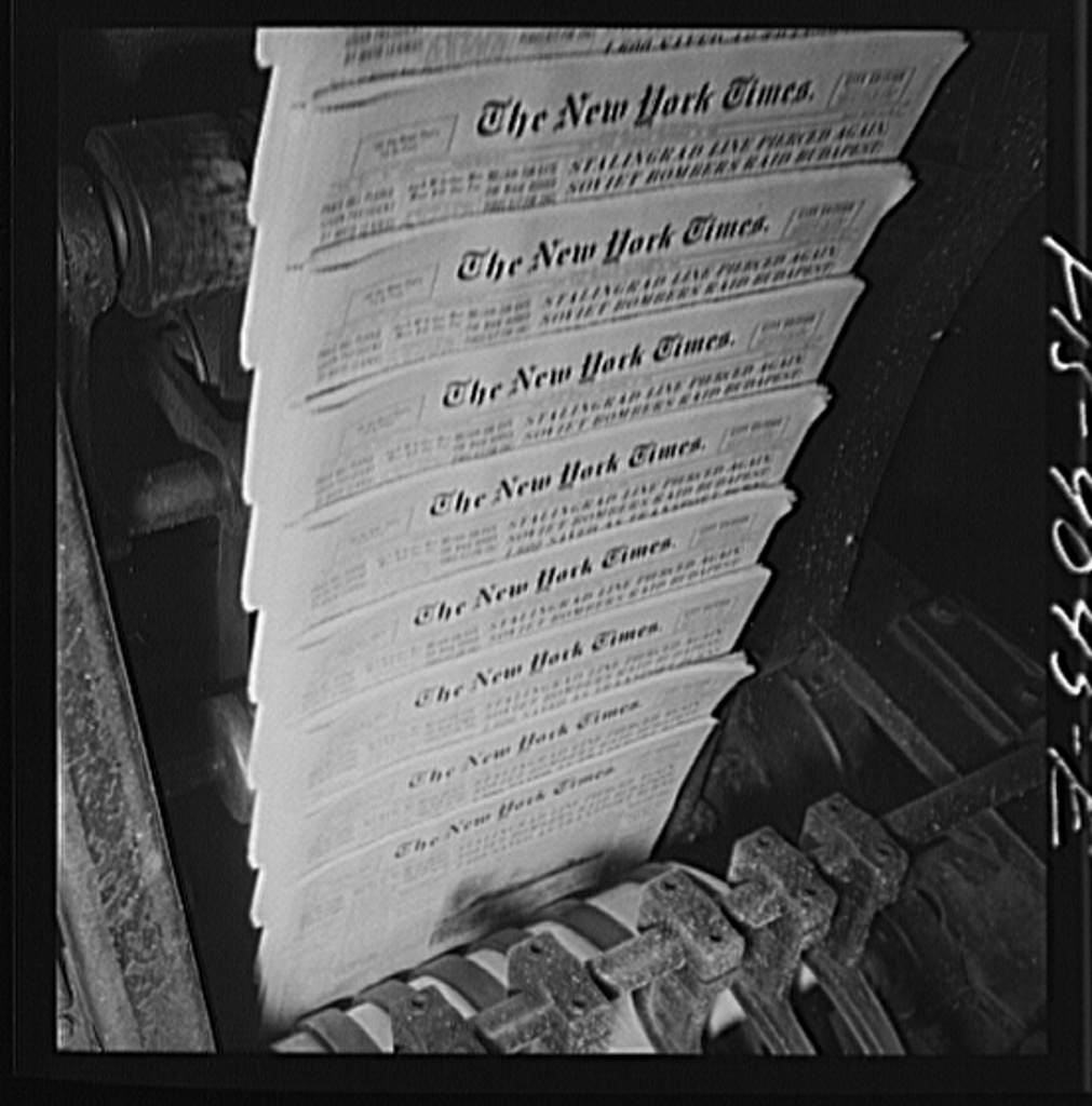 Pressroom of the New York Times
