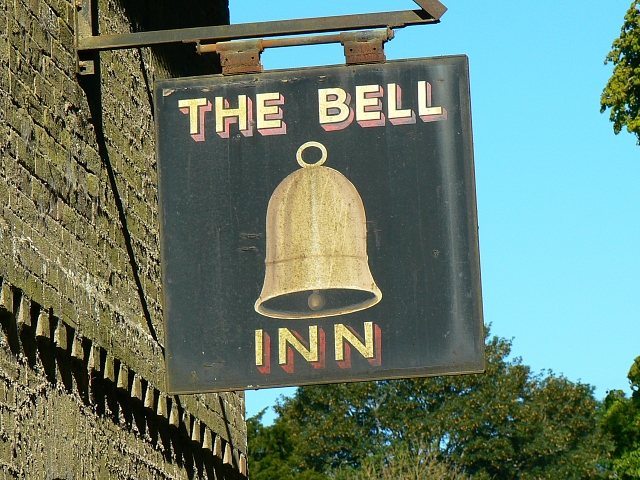 Pub sign, the Bell Inn, Imber - geograph.org.uk - 538486
