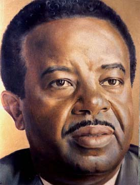 Ralph David Abernathy, as painted by the artist Robert Templeton, Oil, 1974
