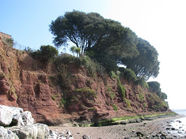 Red cliffs south of Lympstone - geograph.org.uk - 1208475