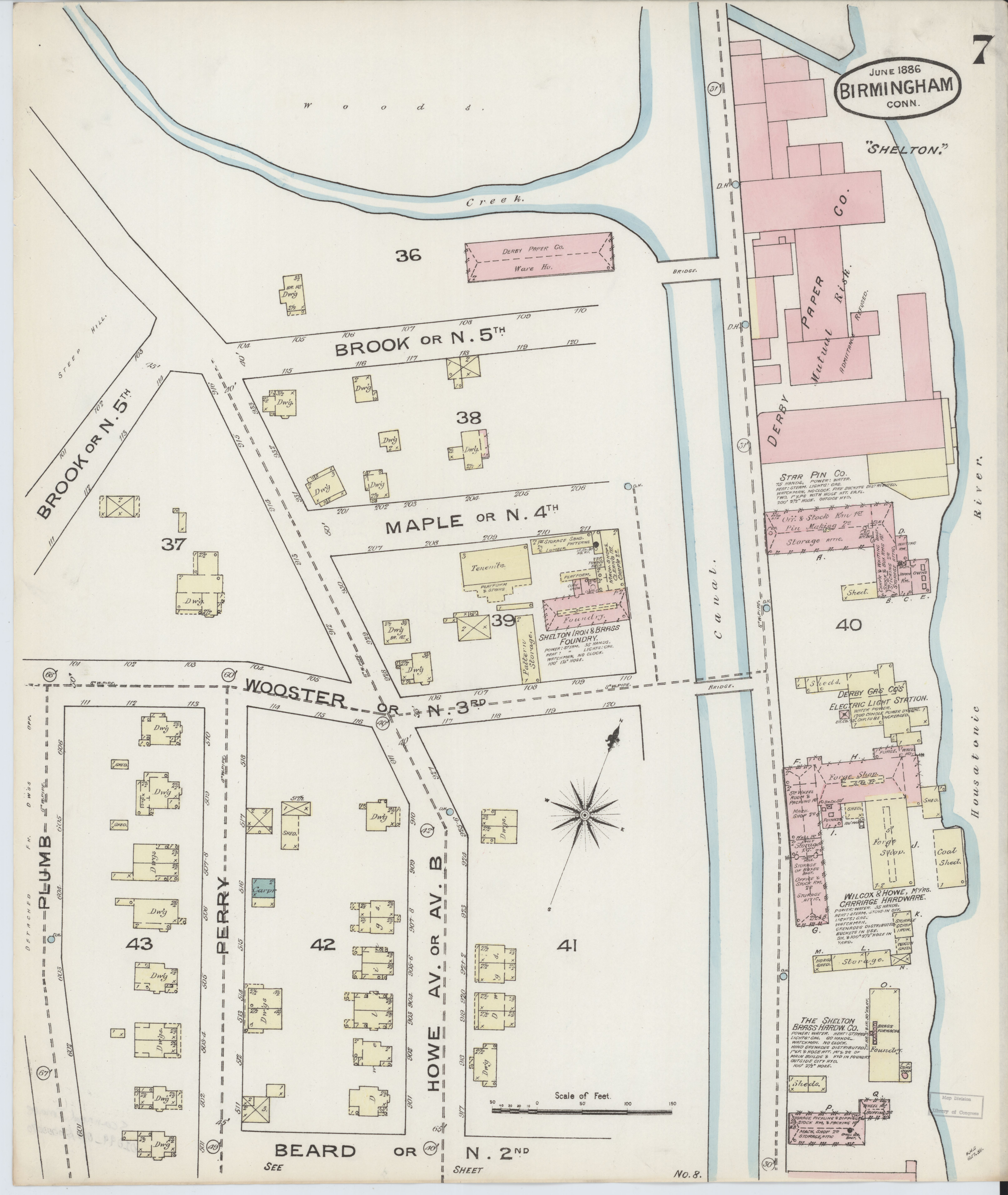 File:Sanborn Fire Insurance Map from Birmingham, New Haven County ...