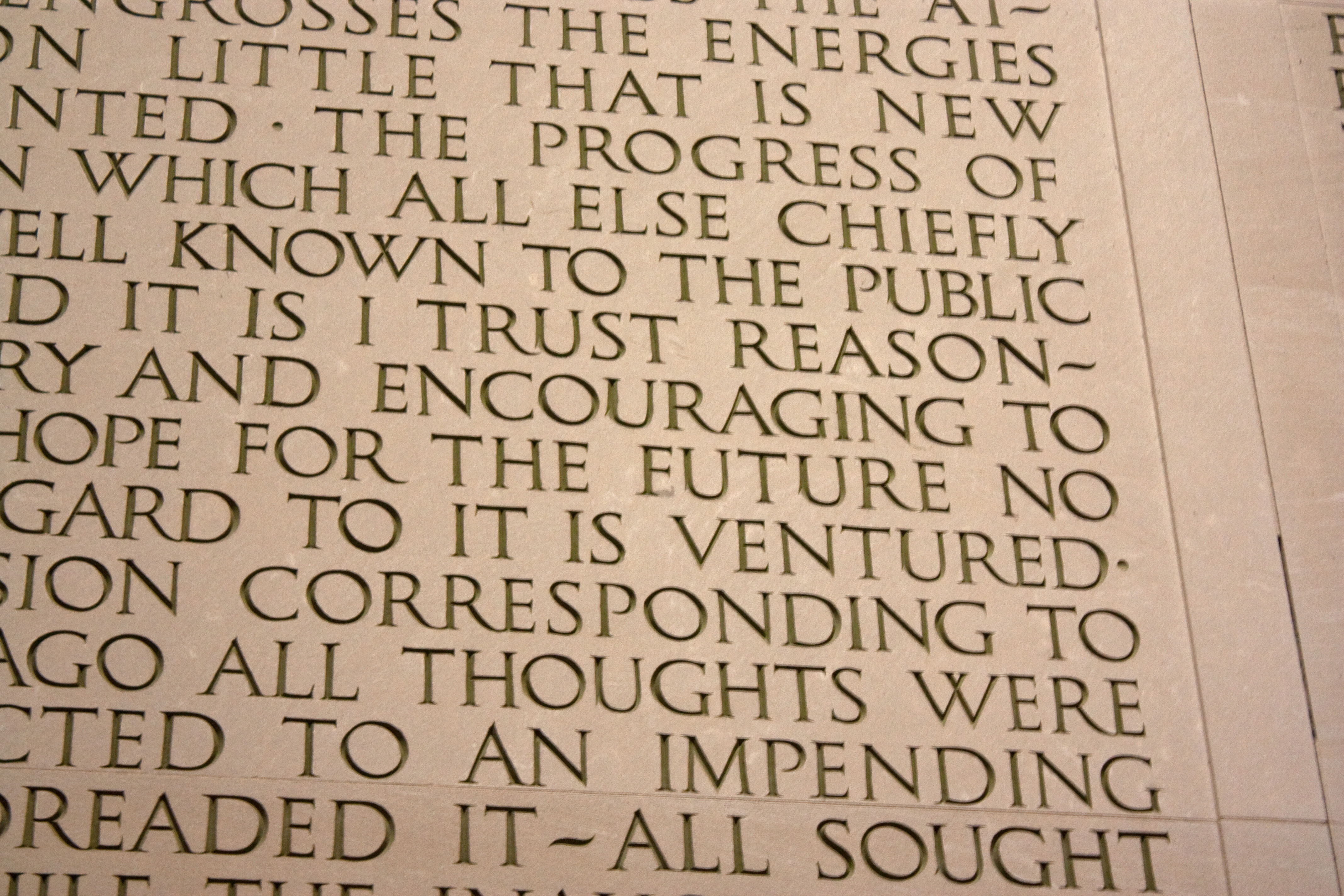 File Second Inauguration Mistake In Lincoln Memorial Jpg