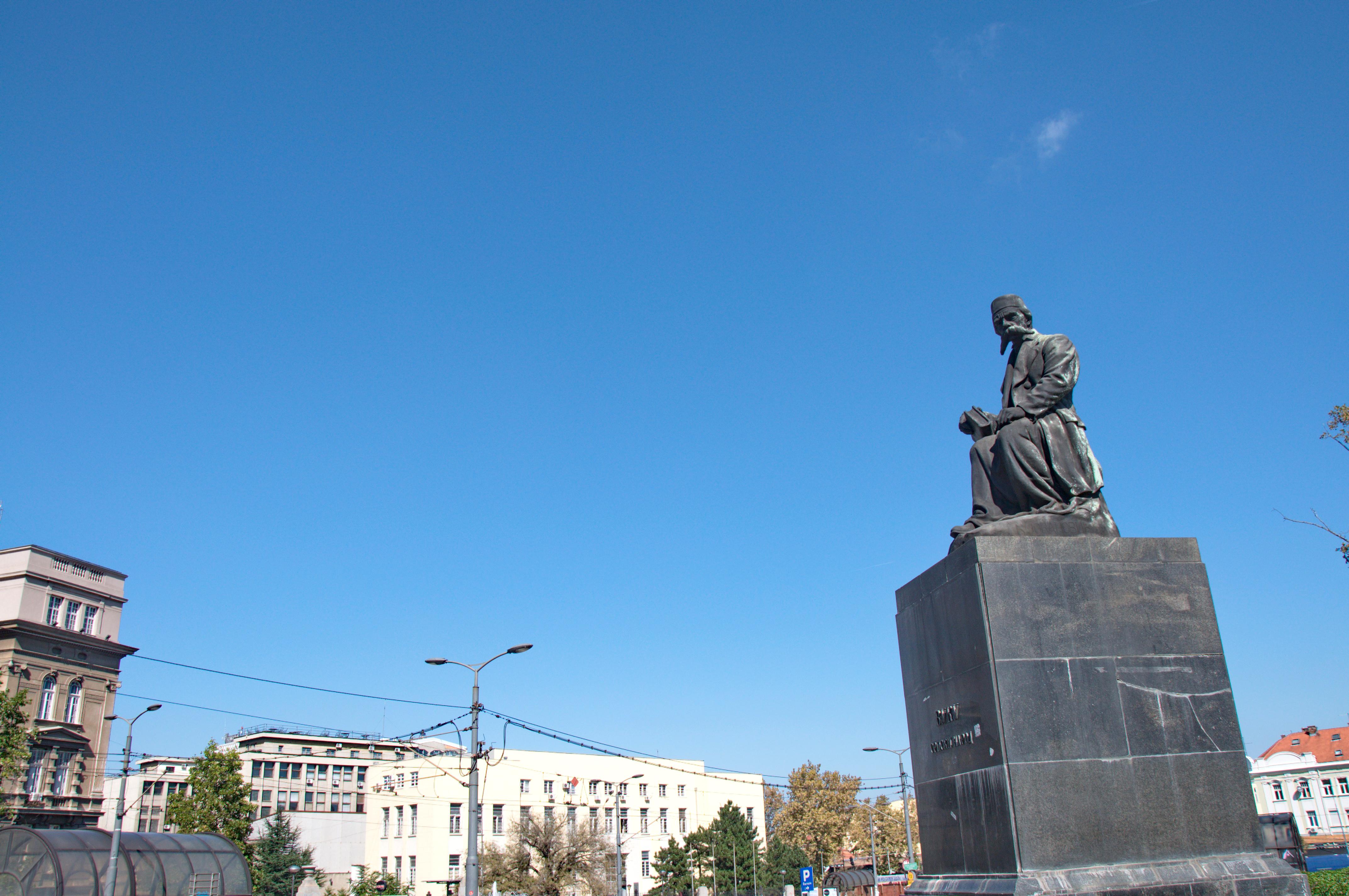 File Spomenik Vuku Karadzicu U Beogradu 02 Jpg Wikimedia Commons