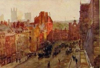 St James's Street and St James's Palace, chromolithograph, about 1890 St James's Street London ca.1890.JPG