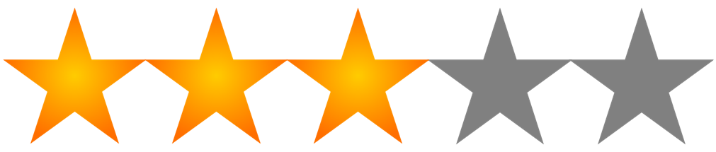 Image result for 3/5 star rating