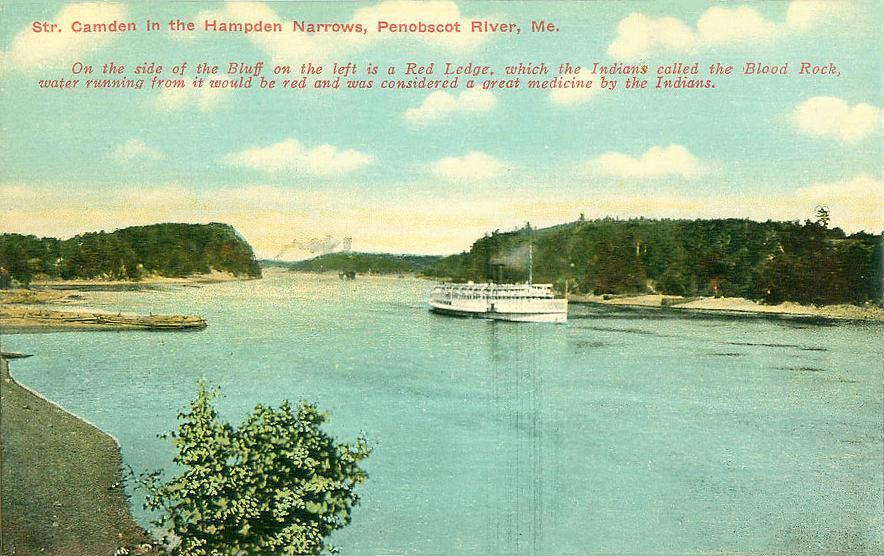 to en.wikipedia. 2008-07-07 20:07 Hugh Manatee 884×556× (114891 bytes) Steamer ''Camden'' in the Hampden Narrows, Penobscot River, ME; from a c. 1910