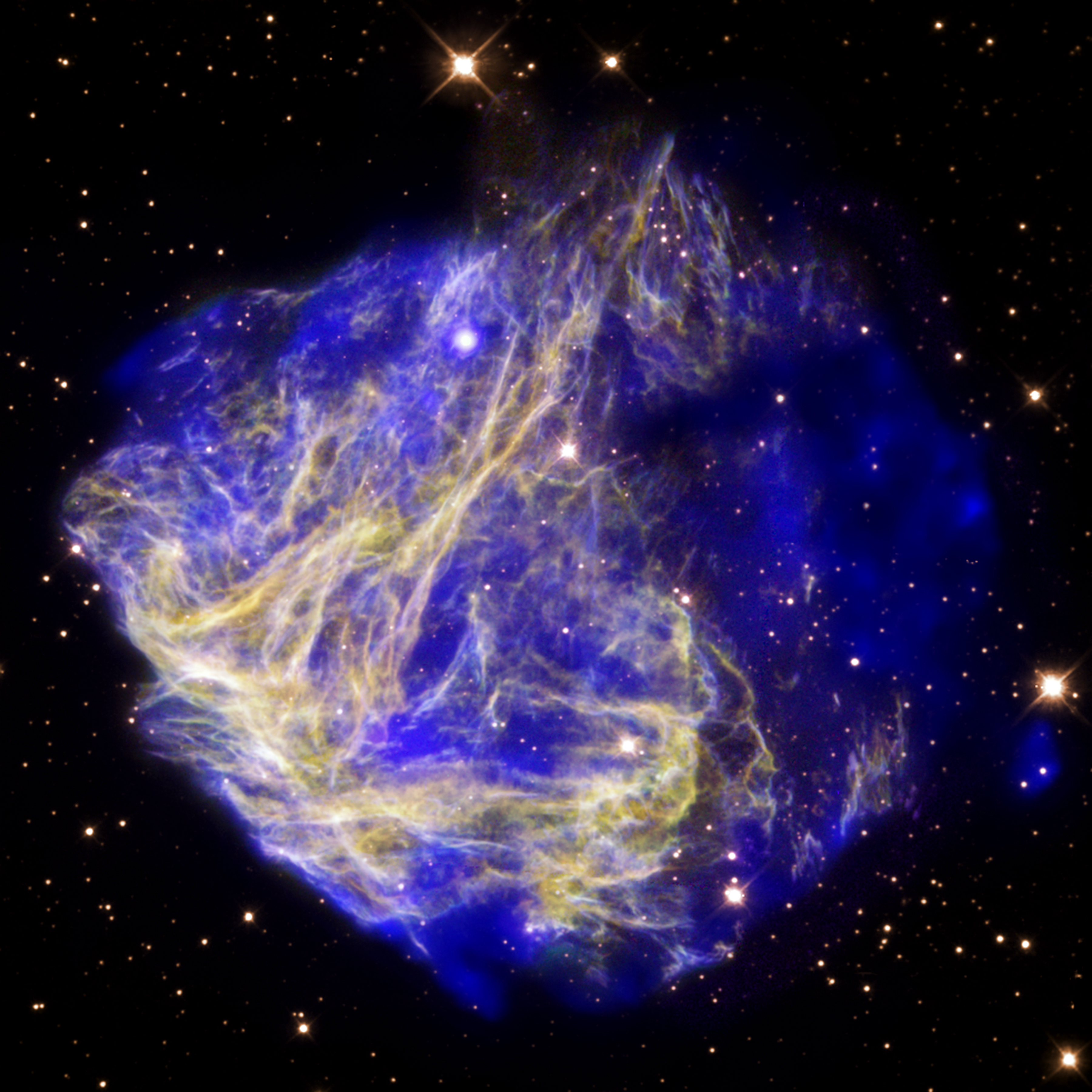 Filestellar Shrapnel Seen In Aftermath Of Explosion A Supernova Remnant Located In The