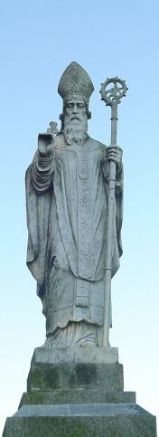 Statue of St. Patrick of the Celtic Church, who was famous for proselytizing