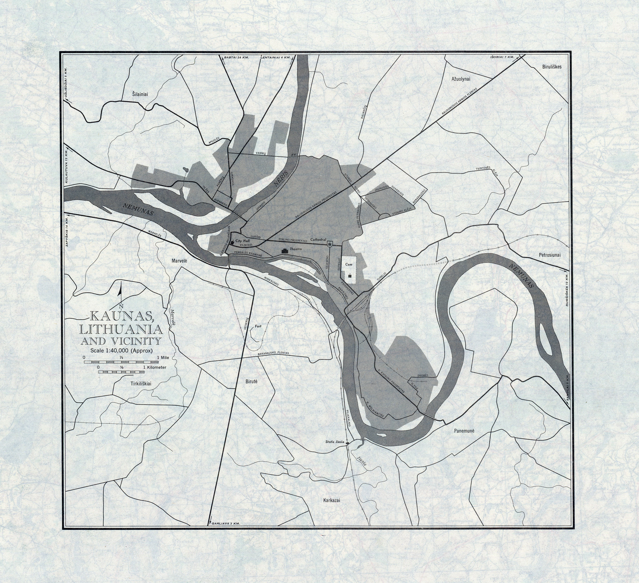 FileUSSR Map NN Verso Kaunas Lithuania And Vicinityjpg - Kaunas map