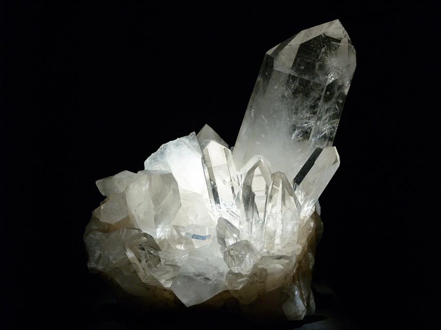 Shocked Quartz Crystals Quartz Crystal on Display at
