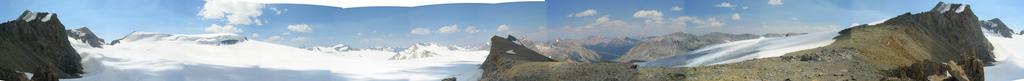 תצלום פנורמי של שדה הקרח ואפטה, משנת 2005