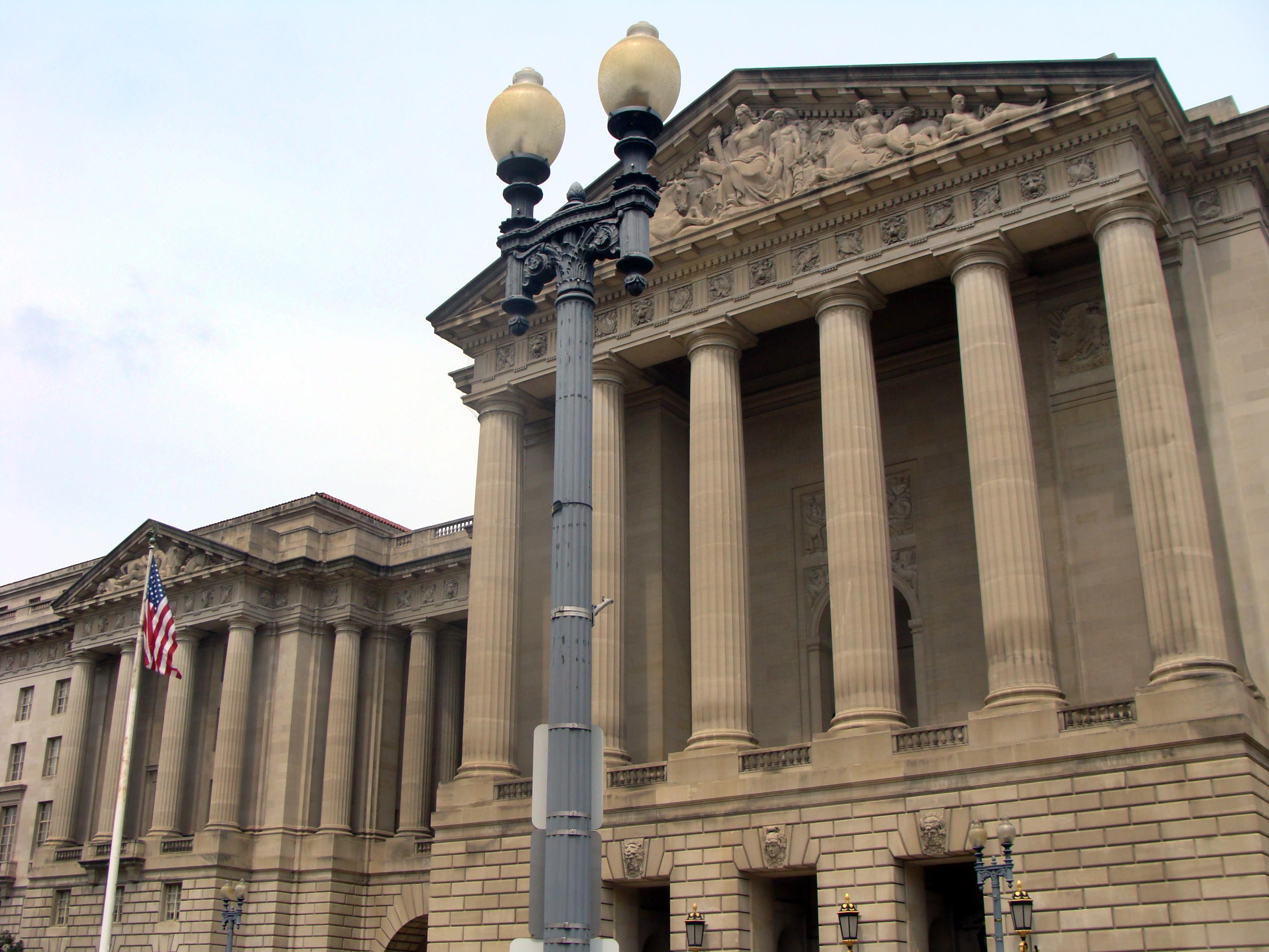 File:Washington DC Constitution Blvd Government Buildings.jpg