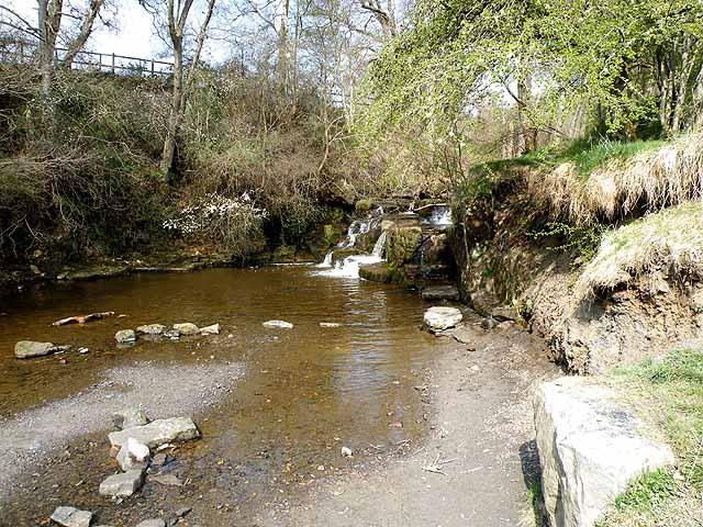 Waterfall on Hareshaw Burn - geograph.org.uk - 1255516