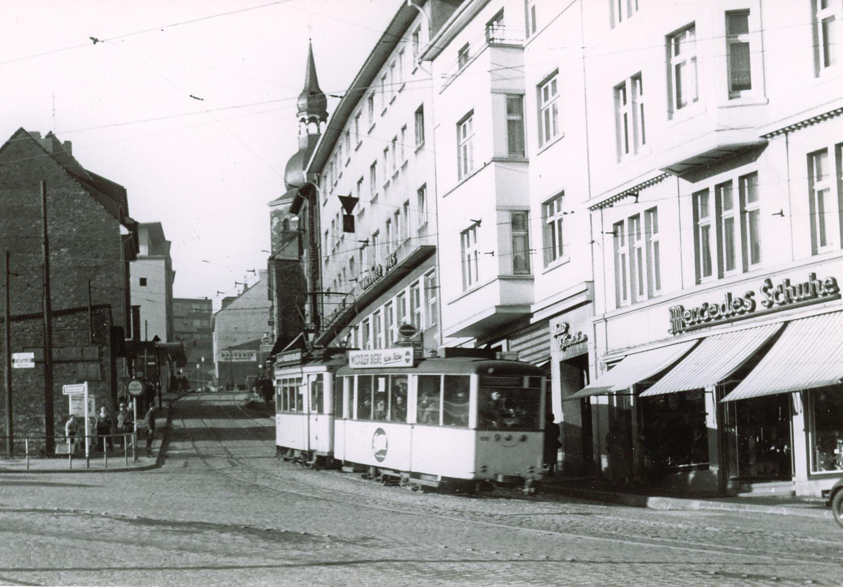 Die Alte Hindenburgstraße, das steilste Teilstück der Remscheider Straßenbahn. Foto: Wikipedia