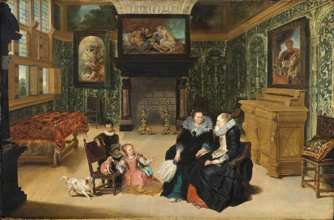 File:\'Interior Scene\' by Frans Francken II and Cornelis de Vos ...