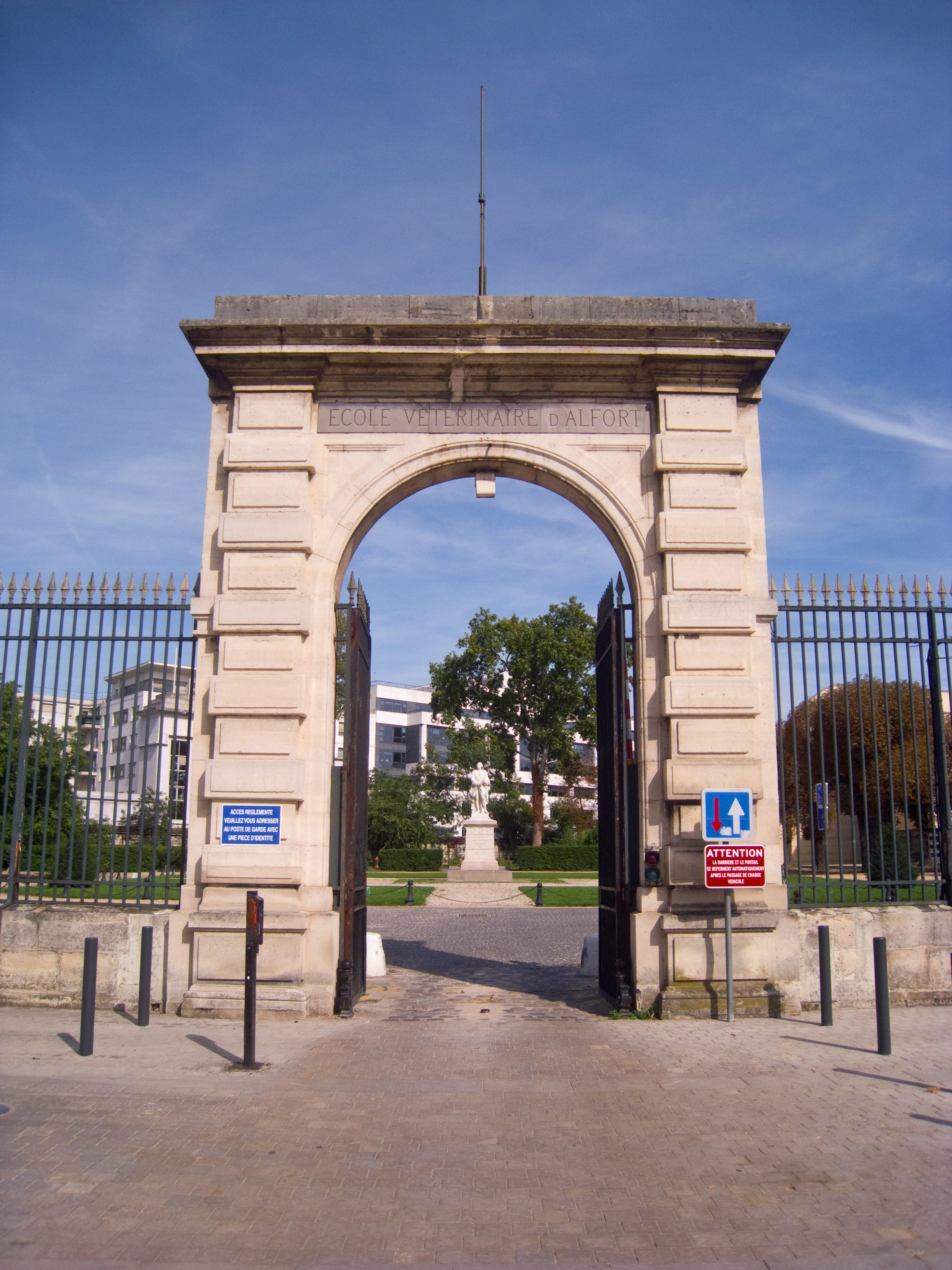 file cole v t rinaire de maisons alfort entrance gate