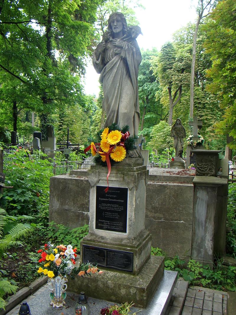 Sigmund Gorazdowskis grav på kirkegården i Lytsjakiv i Lviv