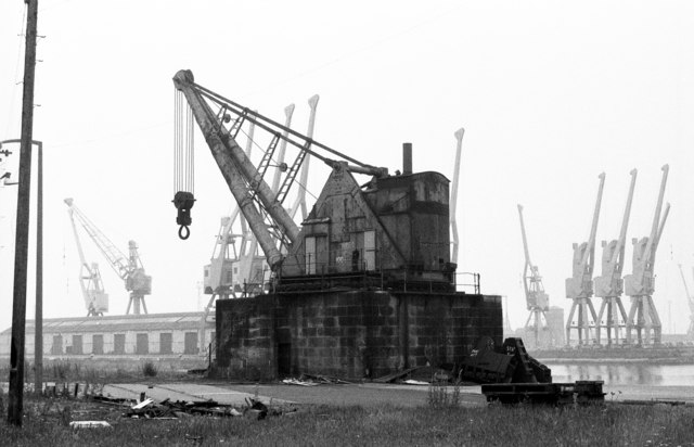 100 ton steam crane, Alexandra Dock - geograph.org.uk - 486419