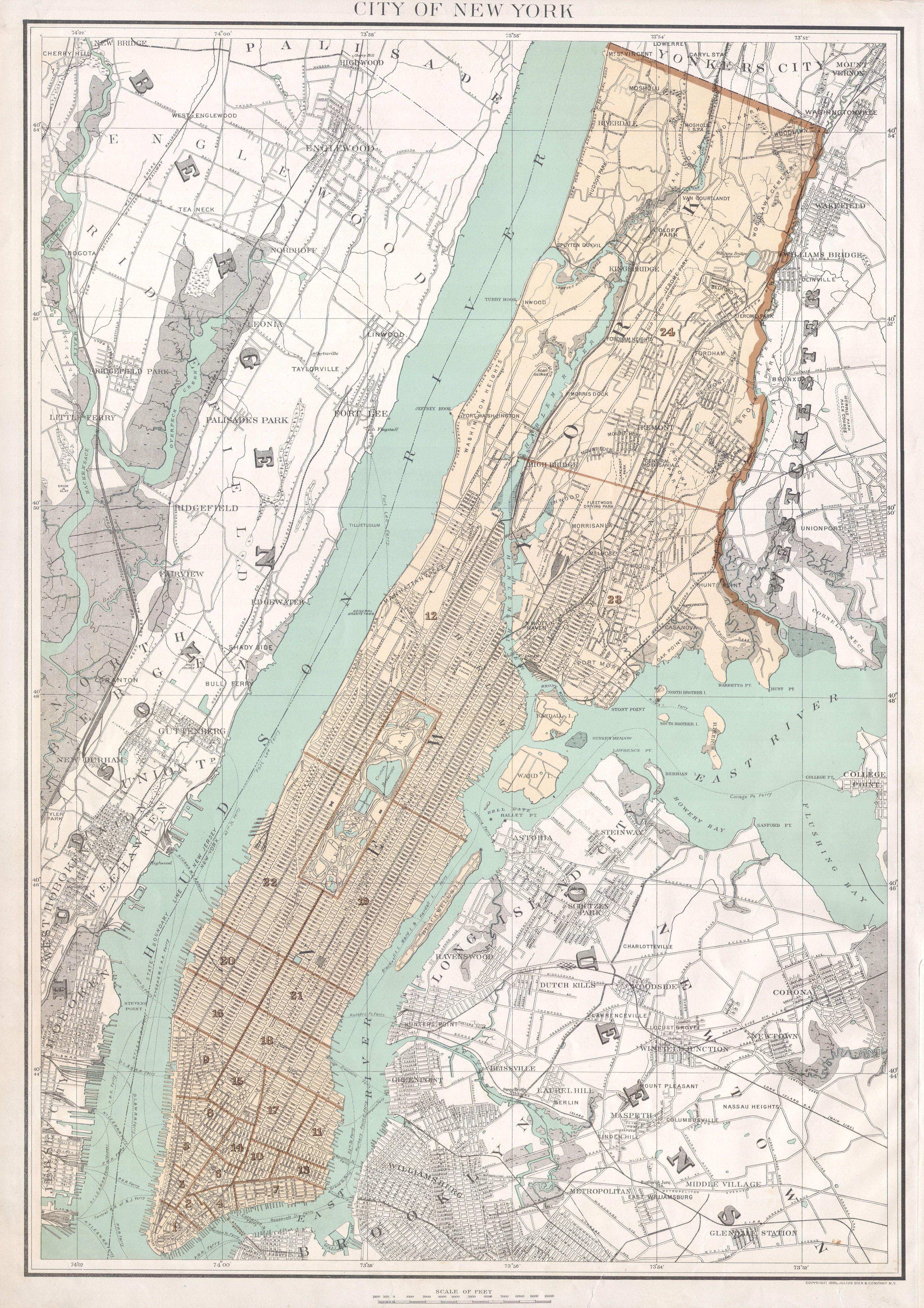 Public Domain Map City Streets