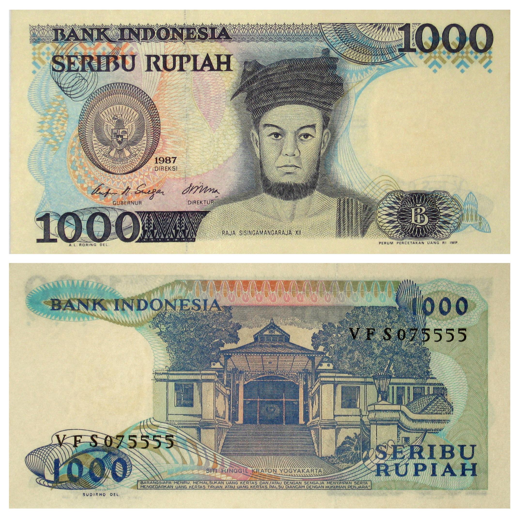 File 1987 Series 1000 Rupiah Note Obverse And Reverse Jpg