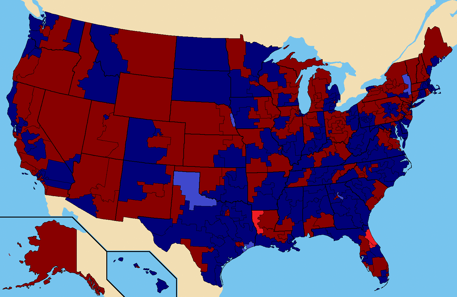 File:1988 US House Election Map.png - Wikimedia Commons