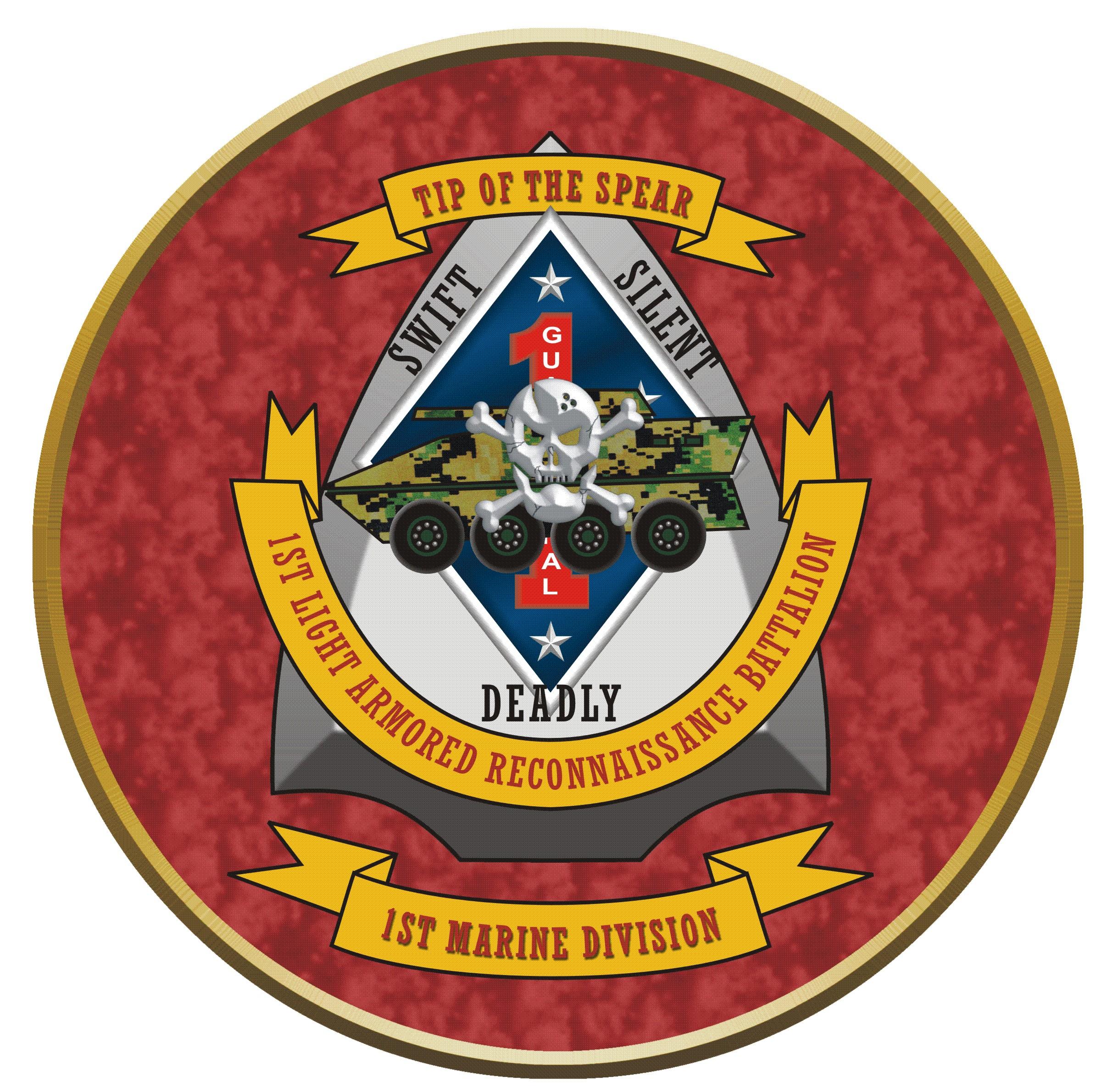 USMC 4th Recruit Training Battalion LARGE round PATCH for ...  |1st Battalion 4th Marines Logo