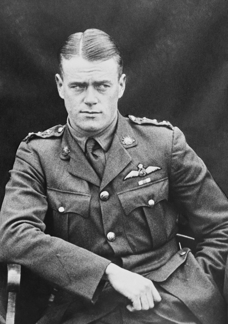 Half portrait of man in military uniform with pilot's wings on chest