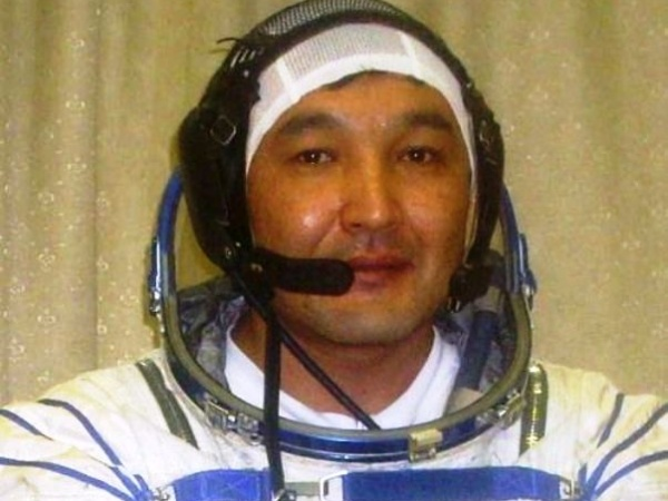 Cosmonaut Aidyn Aimbetov, photo courtesy of the official website of Astana citySource: Wikipedia Aidyn_Aimbetov.jpg