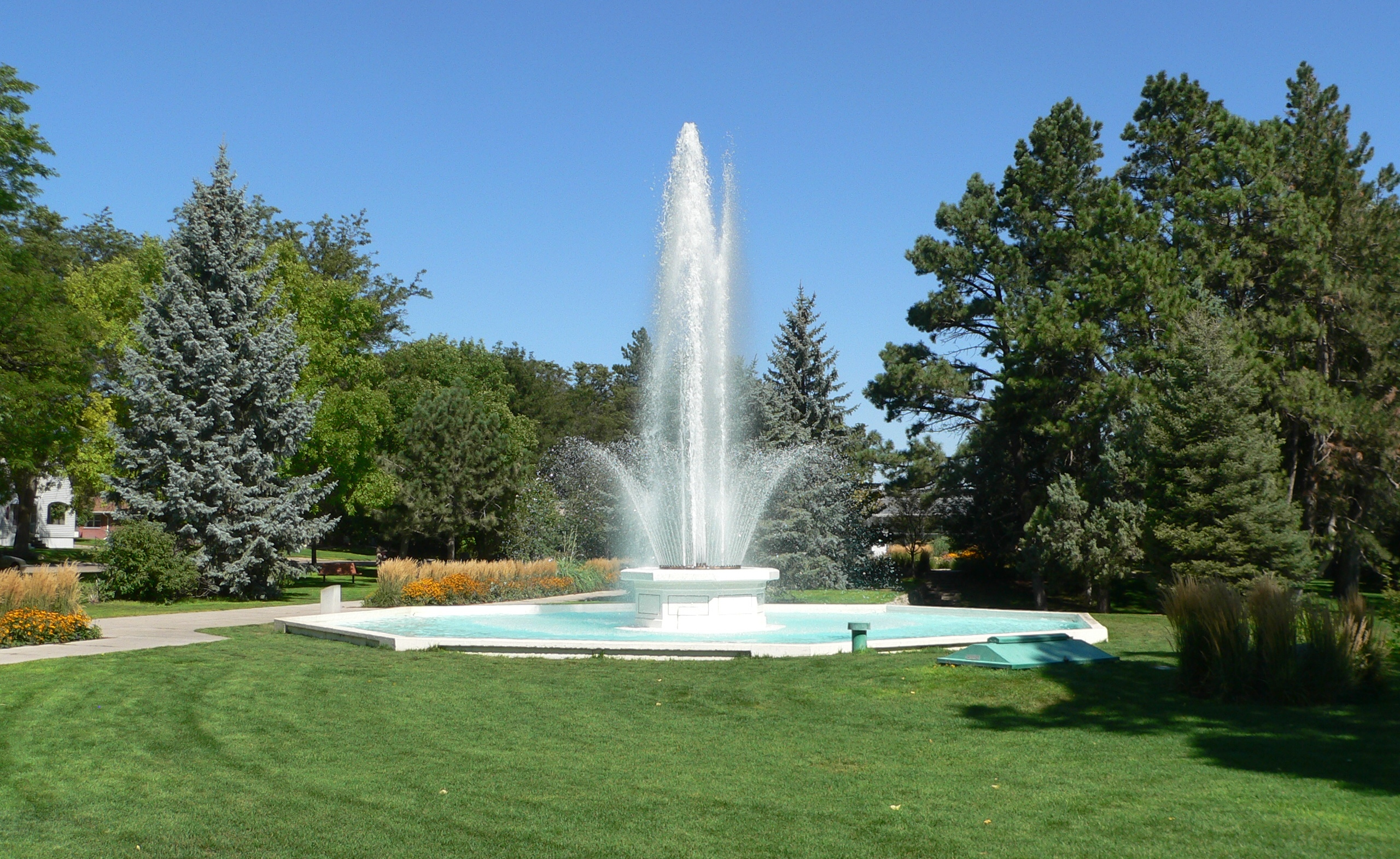 City of Alliance Central Park Fountain in Alliance ...