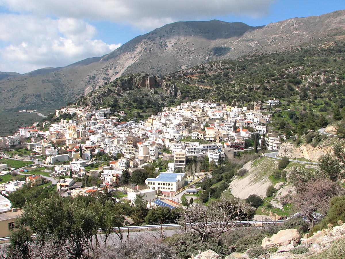 Ano Viannos Village in South Crete